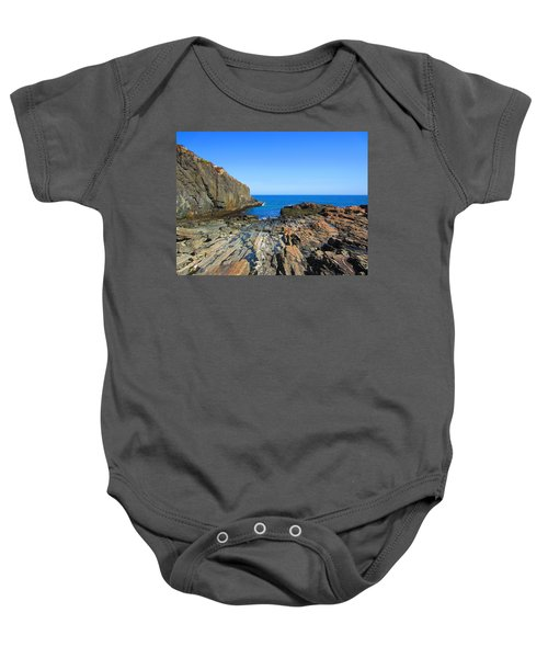 Cliff House Maine Coast Baby Onesie