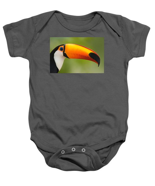 Close-up Of A Toco Toucan Ramphastos Baby Onesie