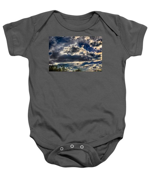 Baby Onesie featuring the photograph Cloud Drama by Mark Myhaver