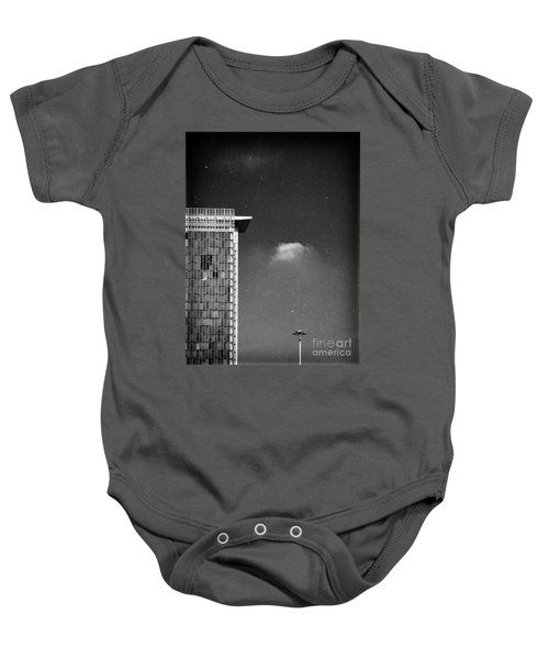 Baby Onesie featuring the photograph Cloud Lamp Building by Silvia Ganora