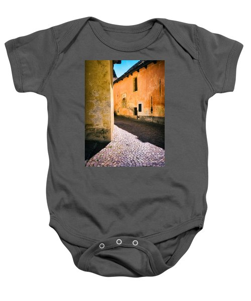Baby Onesie featuring the photograph Cobbled Street by Silvia Ganora