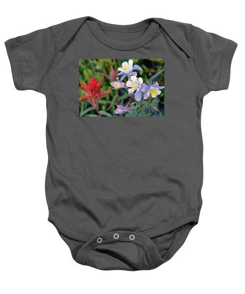 Colorado Blue Columbine Baby Onesie
