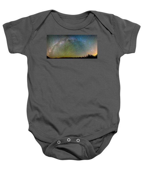 Colorado Indian Peaks Milky Way Panorama Baby Onesie