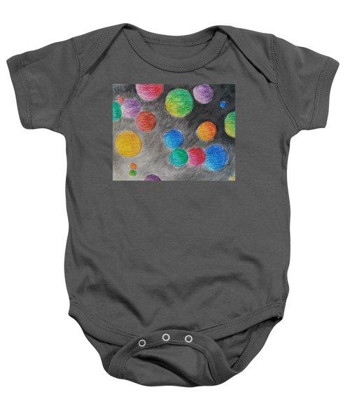 Colorful Orbs Baby Onesie