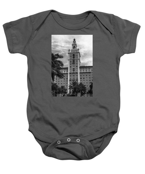 Coral Gables Biltmore Hotel In Black And White Baby Onesie