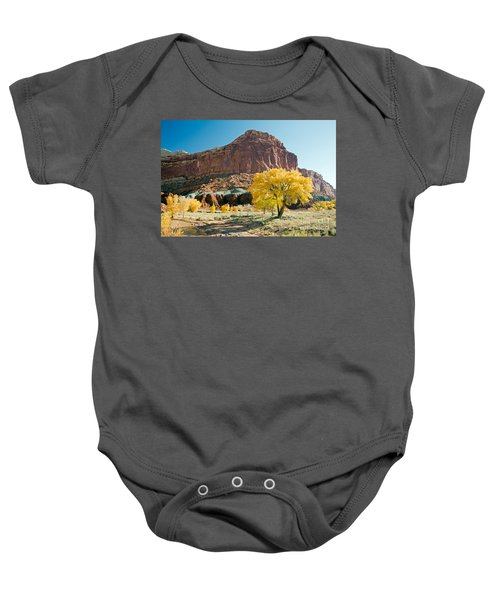 Cottonwoods In Fall The Castlecapitol Reef National Park Baby Onesie