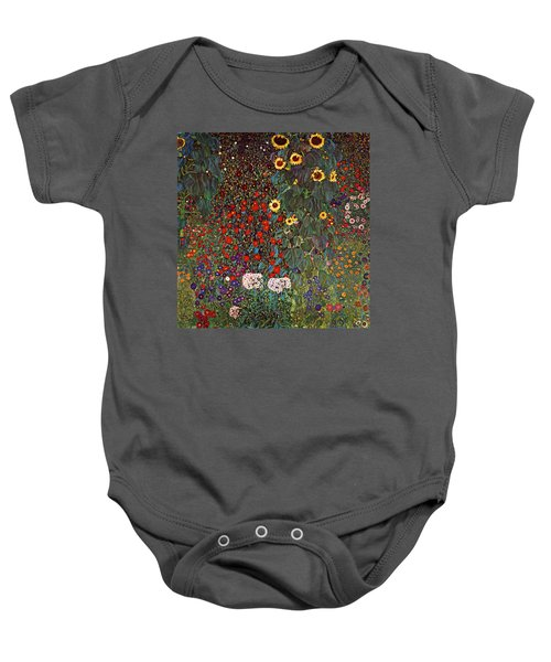 Country Garden With Sunflowers Baby Onesie