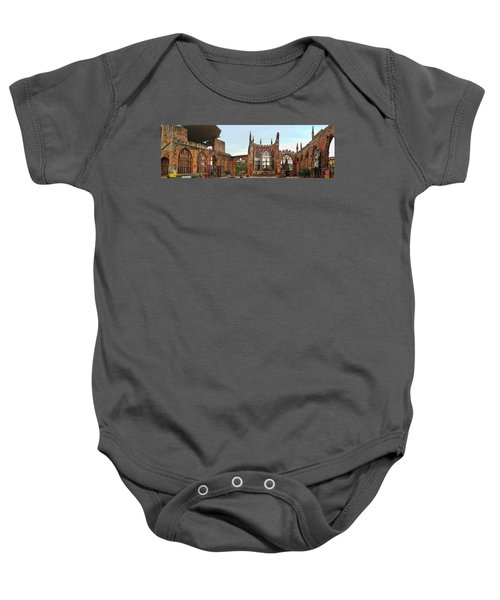 Coventry Cathedral Ruins Panorama Baby Onesie