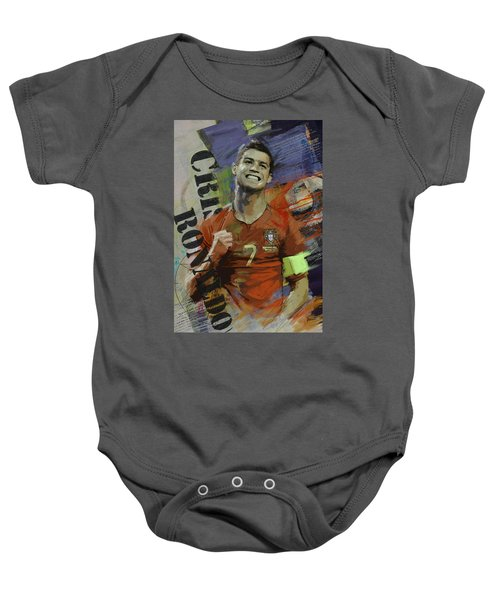 Cristiano Ronaldo - B Baby Onesie by Corporate Art Task Force