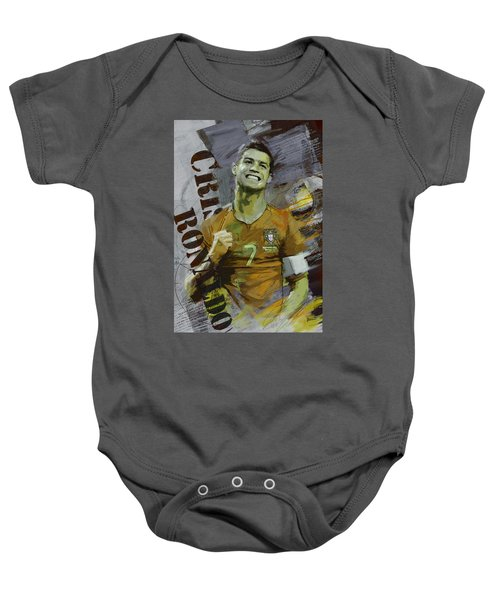 Cristiano Ronaldo Baby Onesie by Corporate Art Task Force