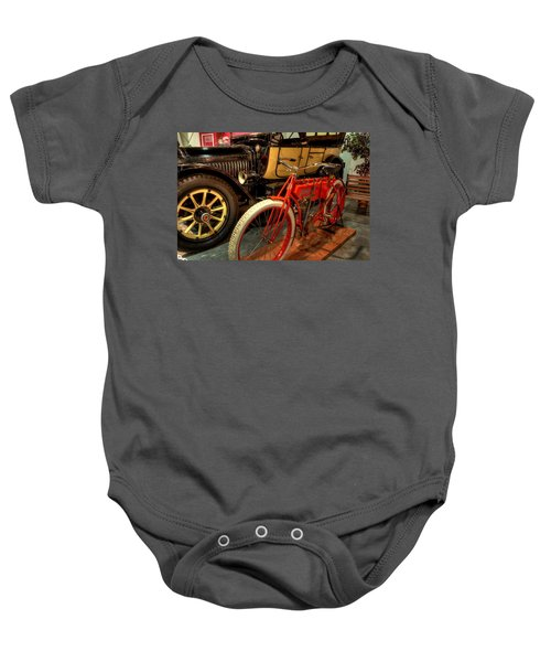 Crouch Motorcycle Baby Onesie