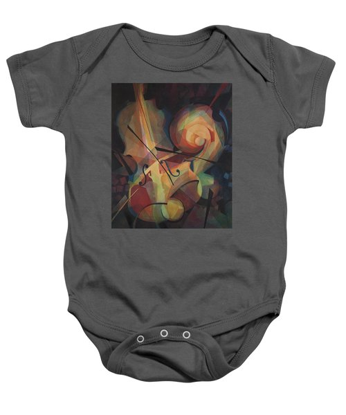 Cubist Play - Abstract Cello Baby Onesie