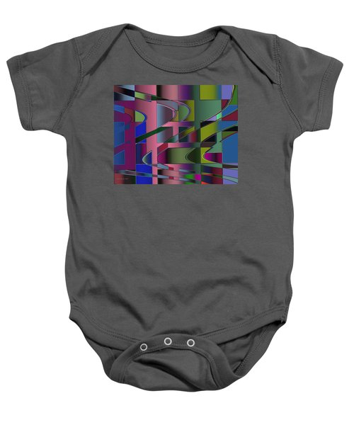 Curves And Trapezoids 3 Baby Onesie