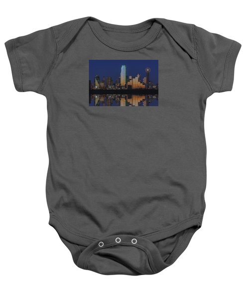 Dallas Aglow Baby Onesie by Rick Berk