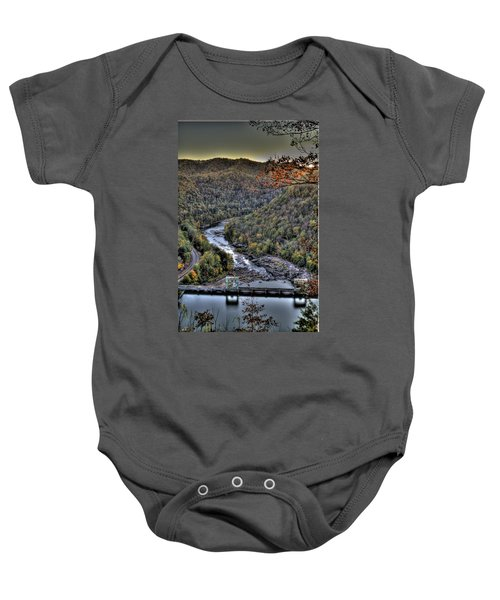 Baby Onesie featuring the photograph Dam In The Forest by Jonny D