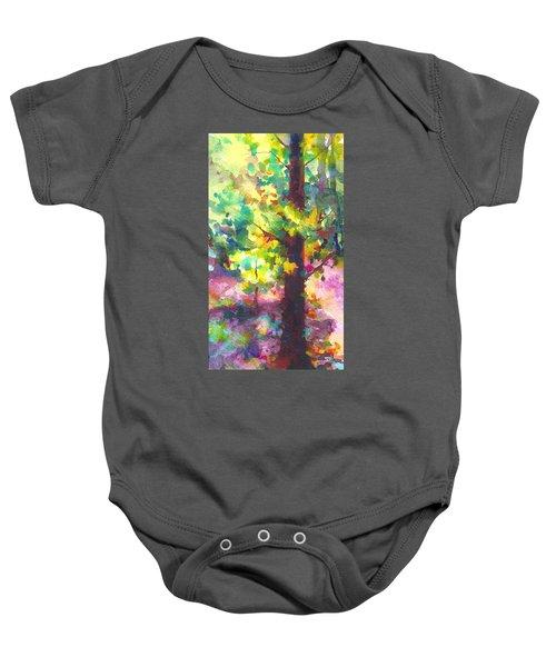 Dappled - Light Through Tree Canopy Baby Onesie