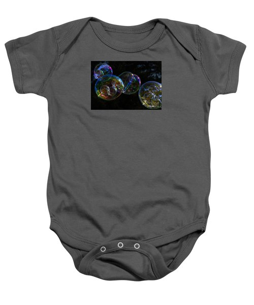Baby Onesie featuring the photograph Dark Bubbles With Babies by Nareeta Martin