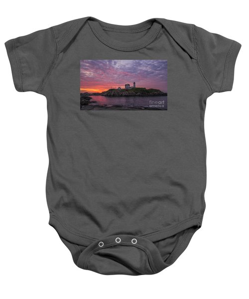 Dawn At The Nubble Baby Onesie