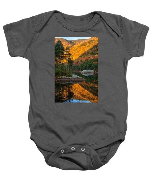 Dawns Foliage Reflection Baby Onesie