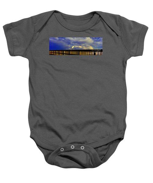 Daytona Beach Rail Bird Sun Glow Pier  Baby Onesie