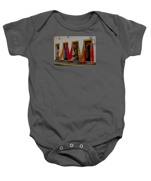 Baby Onesie featuring the photograph Decorated Doorways by Nareeta Martin