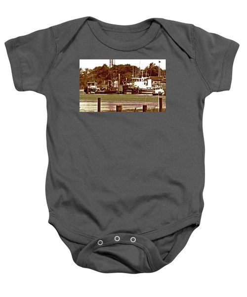 Delta Tug Boats At Work Baby Onesie