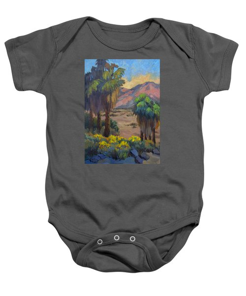 Desert Marigolds At Andreas Canyon Baby Onesie