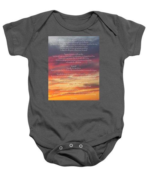 Desiderata Sky 2 Baby Onesie