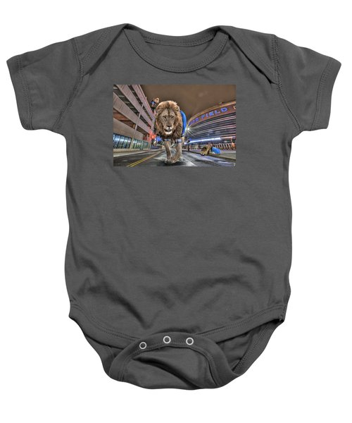 Detroit Lions At Ford Field Baby Onesie