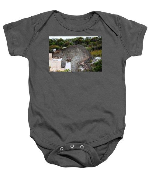 Baby Onesie featuring the photograph Diprotodon by Miroslava Jurcik