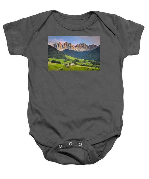 Dolomites From Val Di Funes Baby Onesie