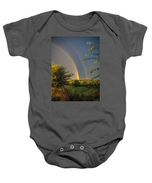 Double Rainbow Over County Clare Baby Onesie