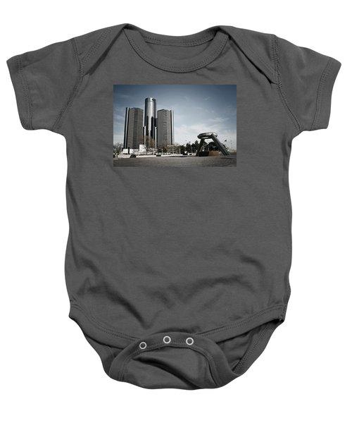 Downtown Detroit Baby Onesie
