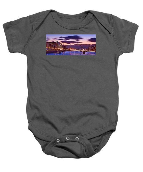 Dublin Docklands At Dawn / Dublin Baby Onesie