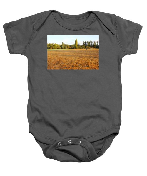 Early Fall Morning In The Rough On The Golf Course Baby Onesie