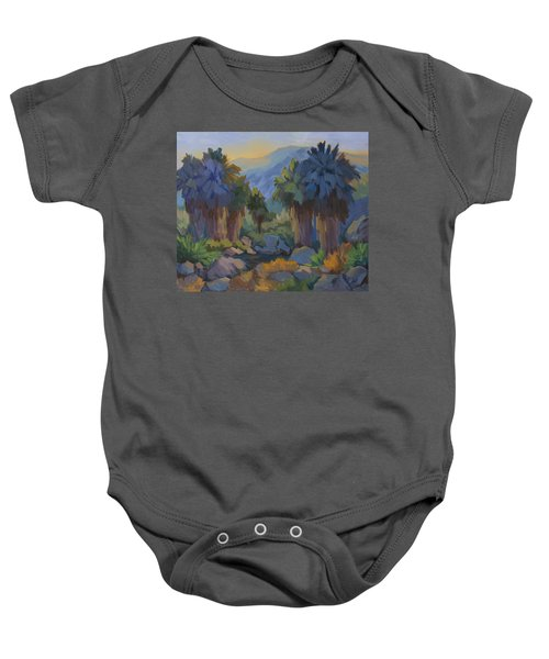 Early Light Indian Canyon Baby Onesie