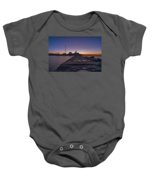 Eastern Point Lighthouse Just Before Sunrise Gloucester Ma Baby Onesie