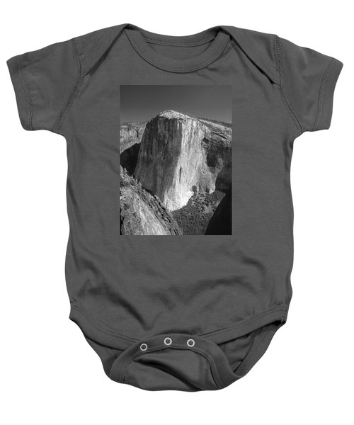 106663-el Capitan From Higher Cathedral Spire, Bw Baby Onesie