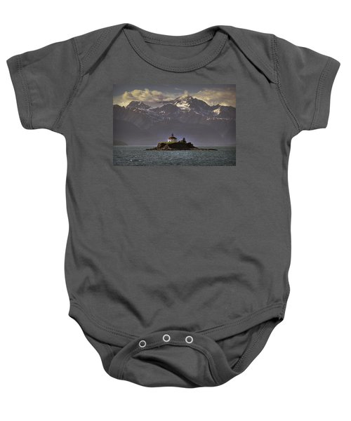 Eldred Rock Lighthouse Alaska Baby Onesie