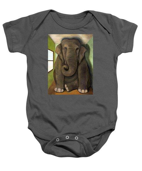 Elephant In The Room Wip Baby Onesie