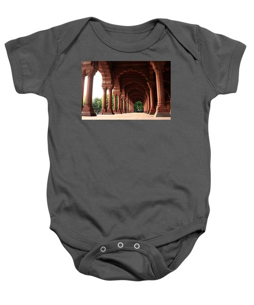 Engrailed Arches, Red Fort, New Delhi Baby Onesie