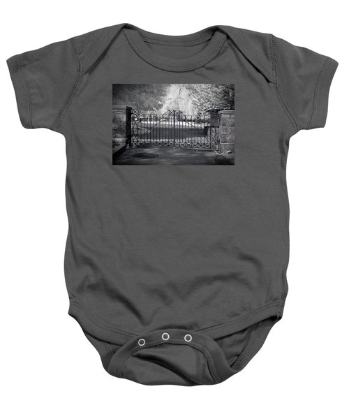 Entry To Salem Willows Baby Onesie