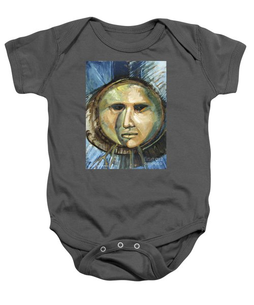 Faced With Blue Baby Onesie
