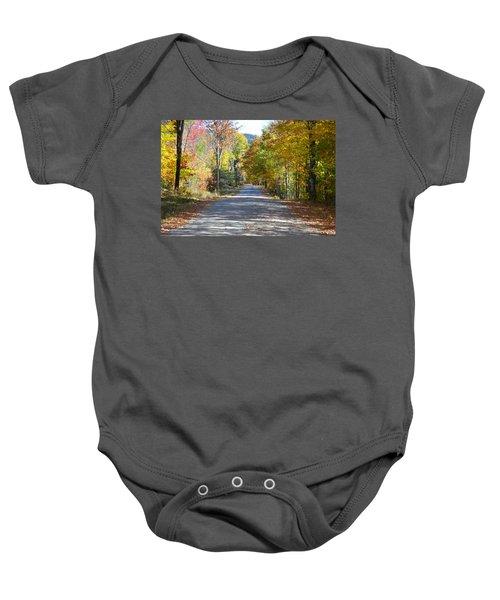 Fall Backroad Baby Onesie