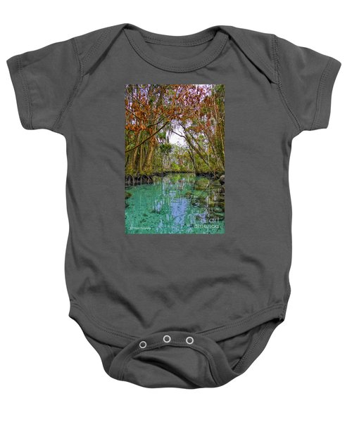 Fall Colors Along Three Sisters Spring Run Baby Onesie