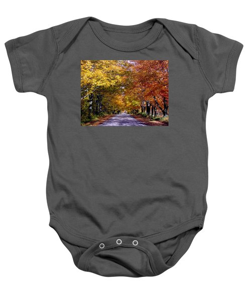 Fall Colors Near Sister Bay Baby Onesie