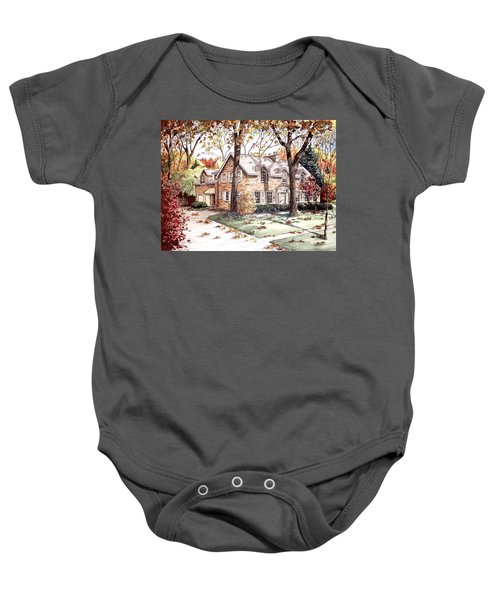 Fall Home Portriat Baby Onesie