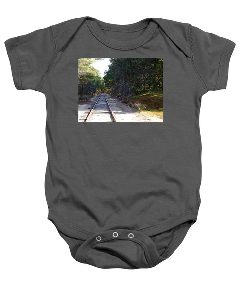 Fall Railroad Track To Somewhere Baby Onesie