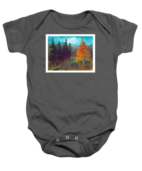 Fall View Baby Onesie