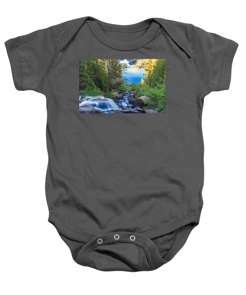 Falling Down To The Lakes Baby Onesie